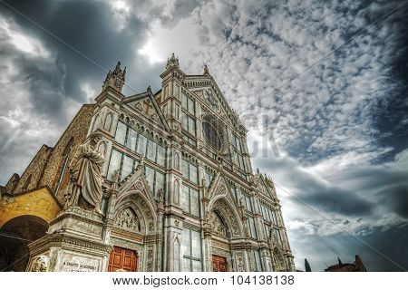 Santa Croce Cathedral In Hdr Tone Mapping Effect