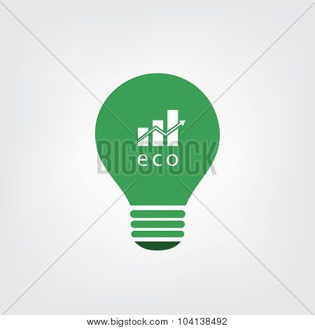 Green Eco Energy Concept Icon - Economic Growth
