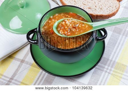 Soup Tureen, Spoon