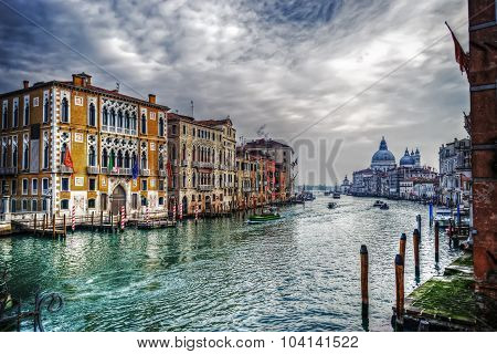 Grand Canal On A Cloudy Day