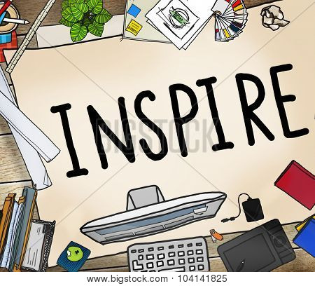 Inspire Ideas Creativity Inspiration Imagination Thinking Concept