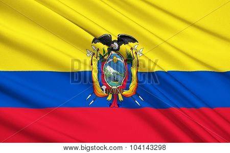 Flag Of Republic Of Ecuador, Quito