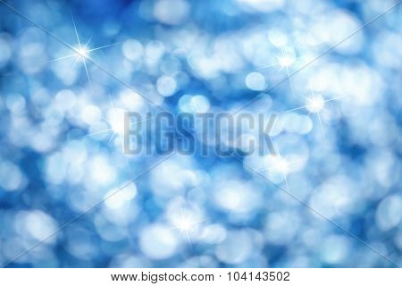 Blue Bokeh Background, Ideal For Christmas