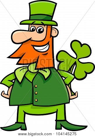 Leprechaun And Clover Cartoon
