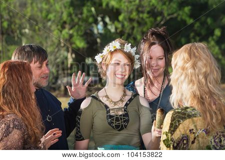Woman In Pagan Initiation Ritual