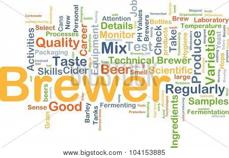 Background concept wordcloud illustration of brewer