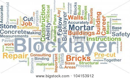 Background concept wordcloud illustration of blocklayer