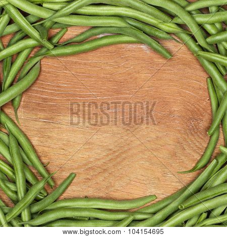 string beans on the table