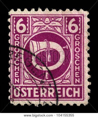 AUSTRIA - CIRCA 1930: A 6 groschen mail-order stamp printed in Austria, circa 1930