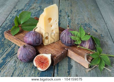 Still Life With Figs And Cheese
