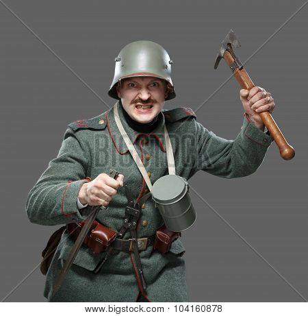 German Infantryman During The First World War.