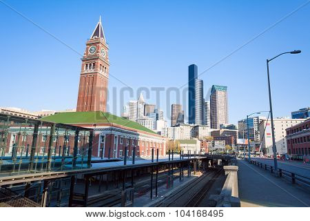 Seattle King Street Station during summer