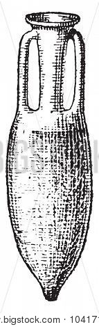 Amphora, vintage engraved illustration. Dictionary of words and things - Larive and Fleury - 1895.