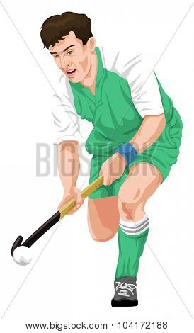 Vector illustration of hockey player in action.