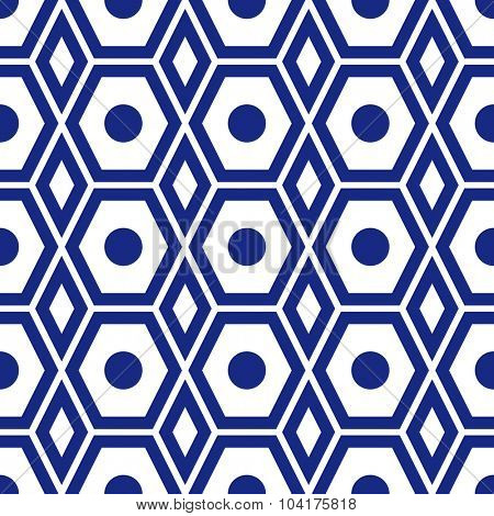 vector seamless geometric ornamental pattern