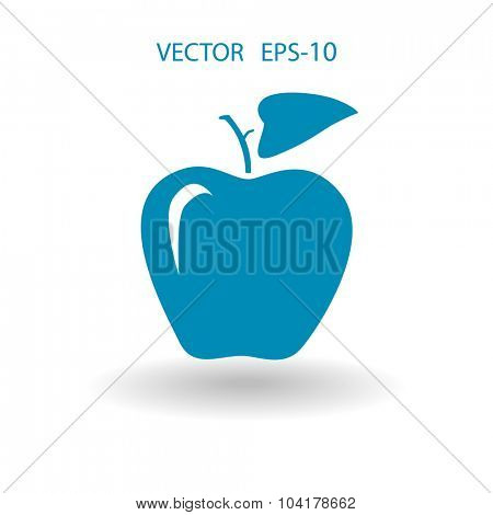 Flat  icon of apple