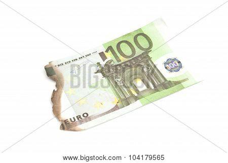 Burnt Bills Of Hundred Euro