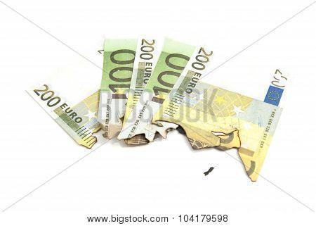 Burnt Bills Of Euro