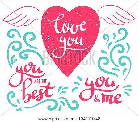 Brush Pen Love Message Calligraphy
