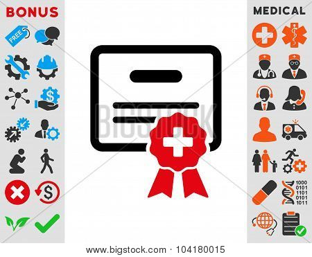 Medical Certification Flat Icon