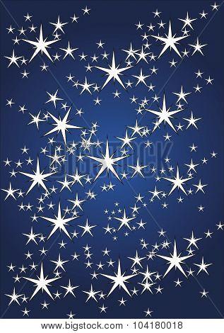 Stars Pattern on Dark Blue Background