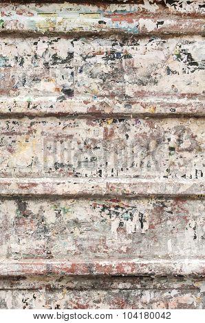 Grunge tin corrugated panel