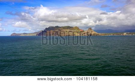 Island Of Kauai As Viewed From The Pacific Ocean