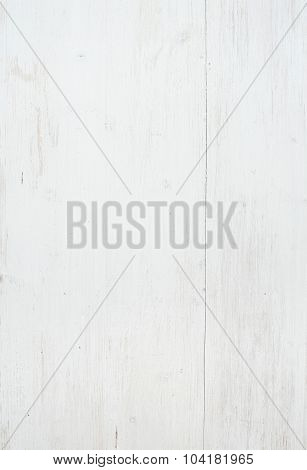 Wooden texture, white wooden background with kitchen napkin, vertical