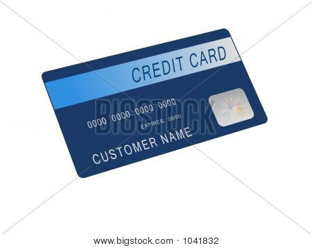 Mock Blue Credit Card