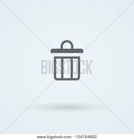 Simple, minimalist icon with the image of the garbage can.