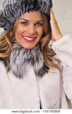 Pretty Woman Wearing Winter Fashion