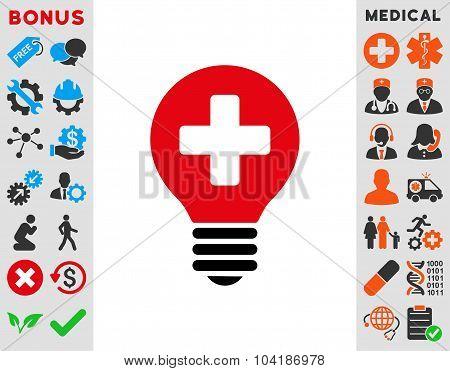 Healh Care Bulb Icon