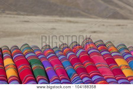 Colorful Fabric On The Roadside