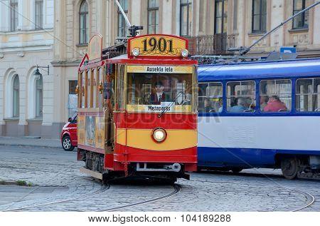 Restored tourist tram