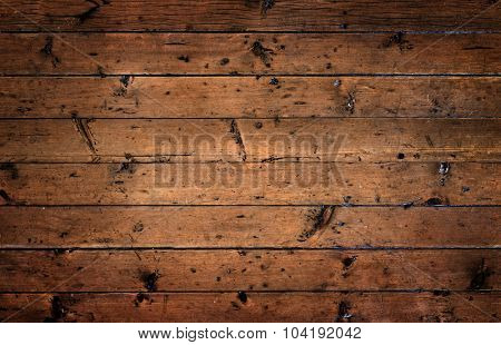 Old rustic wooden surface with horizontal planks