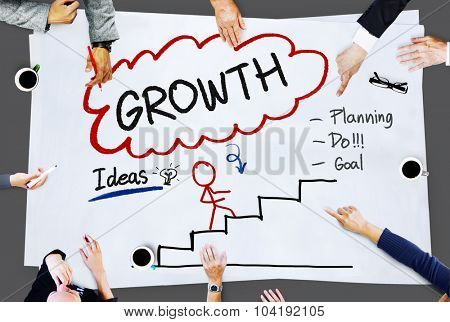 Growth Planning Ideas Goal Development Concept