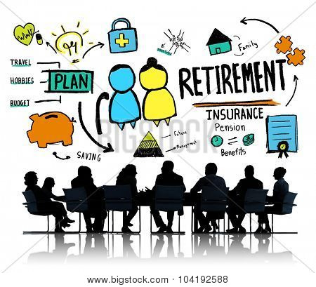 Business People Employee Retirement Discussion Meeting Concept