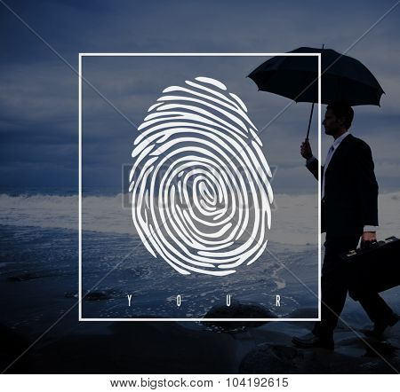 Fingerprint Identification Individuality Investigation Concept