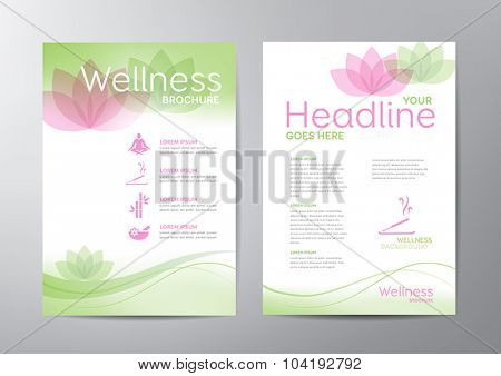 Wellness brochure template - for relaxation, healthcare, medical topics.