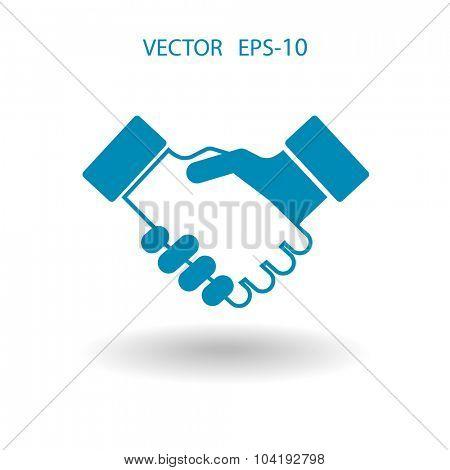 Flat  icon of handshake