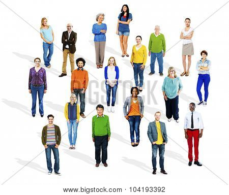 Group of Multiethnic Diverse Cheerful People Concept