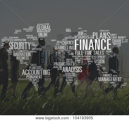 Finance Global Productivity Decision Management Concept