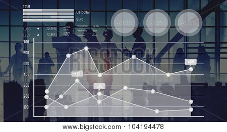 Graph Growth Finance Stock Market Currency Analysis Concept