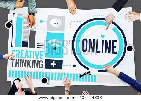 Online Communication Internet Networking Concept