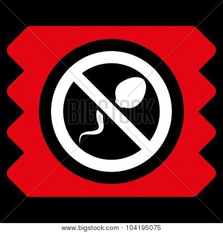 Spermicide Condom Flat Icon