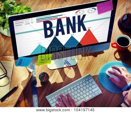 Bank Finance Investment Money Savings Concept