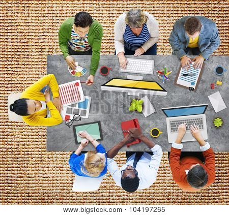 People Meeting Corporate Planning Brainstorming Concept