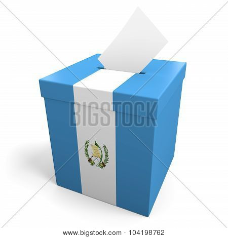 Guatemala election ballot box for collecting votes