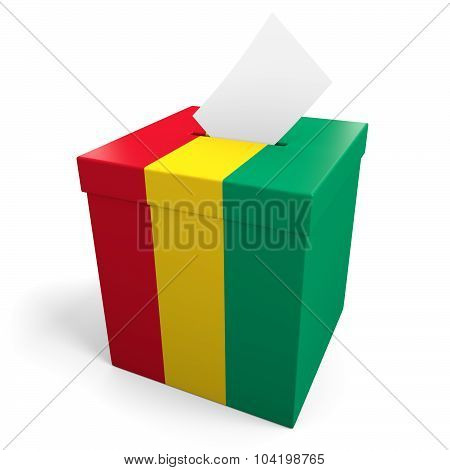 Guinea election ballot box for collecting votes