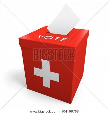 Switzerland election ballot box for collecting votes